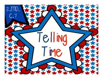 Telling Time {Patriotic Stars - 5 Minutes}