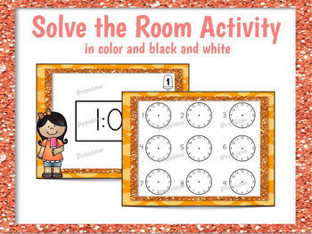 Telling Time to the Hour and Half Hour Drawing the Hands on a Clock