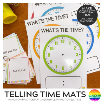 Telling Time - Playdoh Mats and Clockface Cards