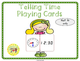 Telling Time Half Hour Playing Cards