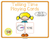 Telling Time Quarter Hour Playing Cards