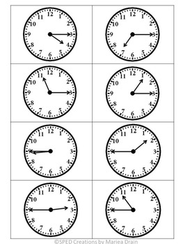 Telling Time Pocket Activity {Free}