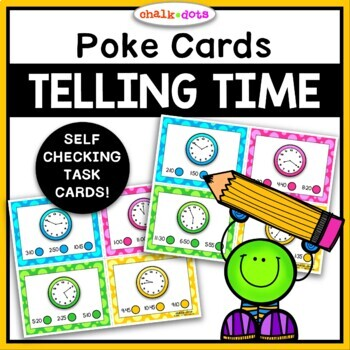 Telling Time Poke Cards (5-minute intervals)