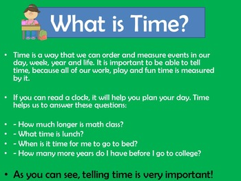 Telling Time Activity | Telling Time Kindergarten |  Telling Time First Grade
