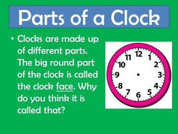 Telling Time To The Hour   PowerPoint