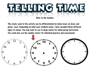 Telling Time Practice