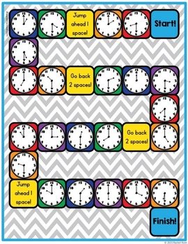 Telling Time Practice Board Game