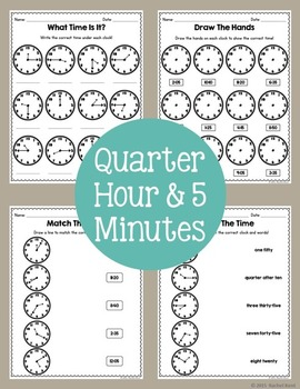 Telling Time Practice Bundle