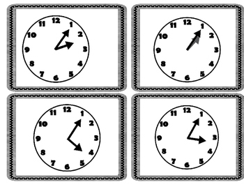 Telling Time Practice Cards