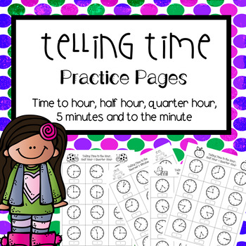 Telling Time Practice Pages