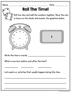 Telling Time Practice - To The Hour & Half Hour