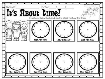 Telling Time Practice Worksheets (O'clock, Half Past, Quarter Past, Quarter to)