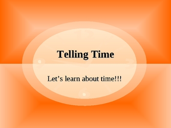 Telling Time Presentation