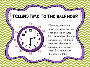 Telling Time Presentation, Printables, Center Activities-Common Core Aligned!