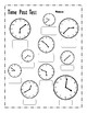 Telling Time Pretest and Post Test