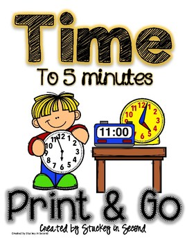 Telling Time Print and Go {Reading Clocks}