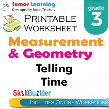Telling Time Printable Worksheet, Grade 3