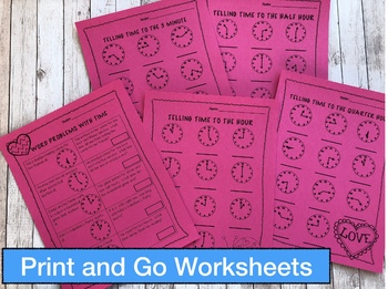 Telling Time Worksheets and Games