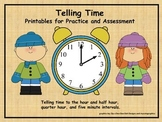 Telling Time Printables for Practice and Assessments (digital and analog clocks)