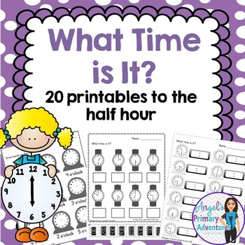 Telling Time Printables to the Half Hour