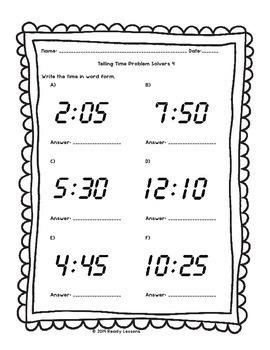 2nd grade telling time worksheets for telling time to 5 minutes 2 md 7. Black Bedroom Furniture Sets. Home Design Ideas