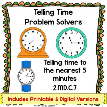 Telling Time Worksheets for Telling Time to 5 Minutes 2.MD.7