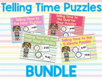 Telling Time Puzzle Bundle