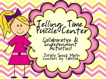Telling Time Puzzle Center- group work and individual work!