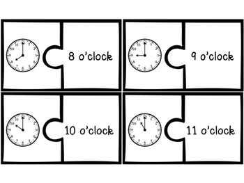 Telling Time: Puzzle Matching