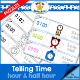 Telling Time Puzzles - Hour & Half Hour