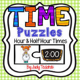 Telling Time Puzzles (Hours and Half Hour Times)