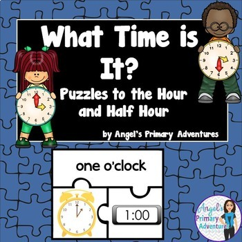 Telling Time Puzzles to the Hour and Half Hour