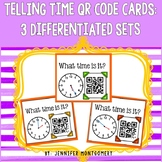 Telling Time QR Code Cards (to the half hour/hour, to 5 mi