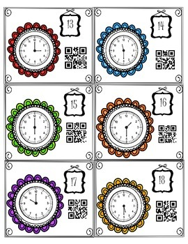 Telling Time QR Codes