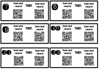 Telling Time Qr Codes: Half Hour and Hour