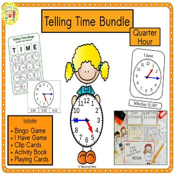 Telling Time Quarter Hour Bundle