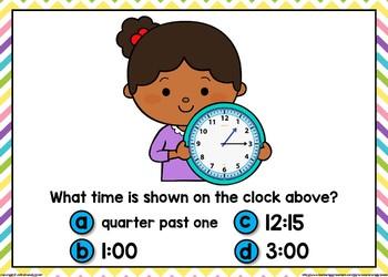 Telling Time Boom Cards (Quarter Hour Intervals)