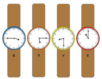 Telling Time Quarter-Hour Matching