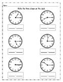 Telling Time - Quarter Past
