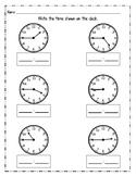 Telling Time - Quarter Past & Quarter To Bundle