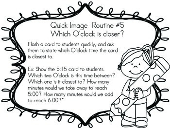Telling Time Quick Image Cards