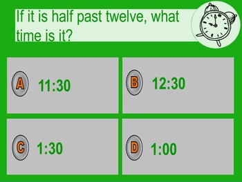 Telling Time Quiz