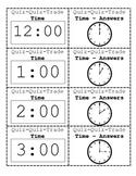 Telling Time Quiz - Quiz - Trade