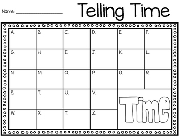 Telling Time Read the Room