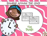 Telling Time Reading Passages-Bundle-Hour-Half Hour-Quarter Till-Past