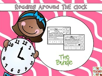 Telling Time Reading Passages-Bundle-Hour-Half Hour-Quarter Till-Past