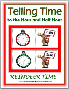 Telling Time to the Hour & Telling Time to the Half Hour
