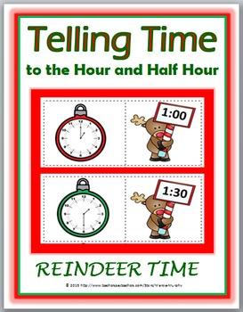 Telling Time to the Hour & Telling Time to the Half Hour W