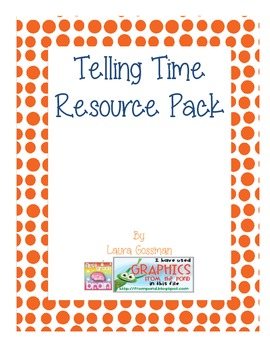 Telling Time Resource Pack