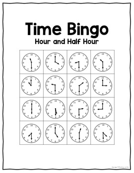 Telling Time Resources